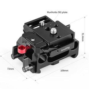 Image 3 - SmallRig płyta fundamentowa zestaw z 15mm zacisk kolejowy dla Blackmagic Design Pocket Cinema kamera BMPCC 4K(Manfrotto 501PL kompatybilny) 2266