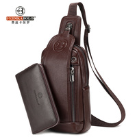 FEIDIKA BOLO Brand Bag Men Chest Pack Single Shoulder Strap BackBag Leather Travel Men Crossbody Bags