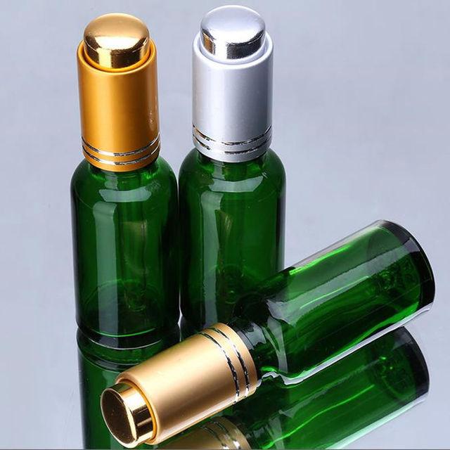 Ml Green Glass Dropper Bottle Oz Pump Lotion Bottle Essential Oil Perfume Glass Spray Bottle Green
