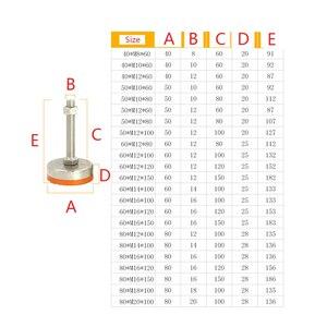 Image 5 - Pieds réglables de glissement pour meubles, M10/12/14/18/20 Dia, pieds réglables, 40mm/50mm/60mm, set de 2