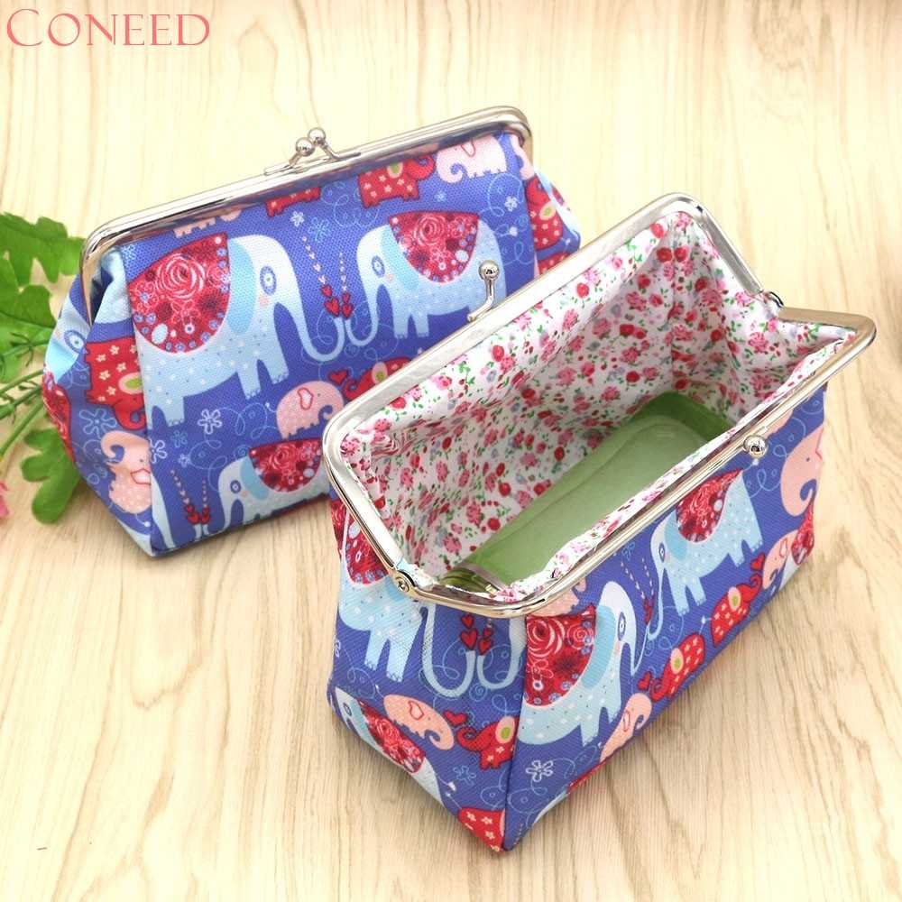 CONEED Drop Kapal Mode Coin Purse Wanita Lady Retro Vintage Gajah Dompet Pengait Tas Kecil Clutch Bag Sep20