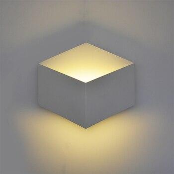 Креативный светодиодный настенный светильник mordern, геометрический настенный светильник, бра для зала, спальни, коридора, лампа, туалет и ван... >> Feimefeiyou Romantic Store