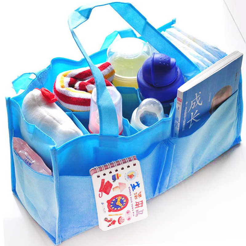 2 Colors Portable Diapers Inserts Bag Organizer Bag Indoor Storage Diapers Bottle Storage Mom Bag