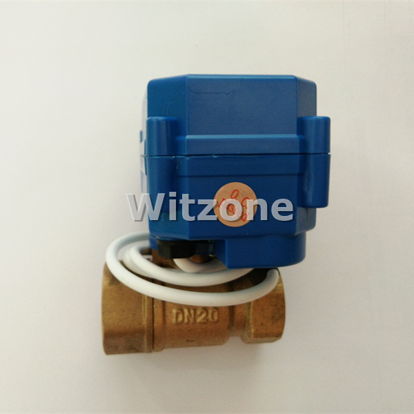 3/4(DN20) DC12V Brass Motorized Ball Valve 3 Wires Control for Water Leakage Detection System WLD-805,WLD-806(CWX-15Q) 3 4 ac dc9 24v pvc u motorized valve 5 wires control cr502 electric water valve dn20 plastic ball valve power off return