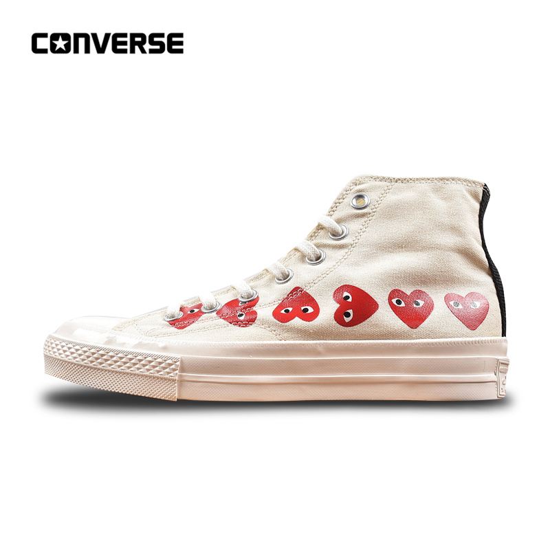 Converse All Star CDG X Chuck Taylor 1970s HiOX 18SS Skateboarding Shoes Sport White High-Top Authentic For Men and Women converse all star cdg x chuck taylor 1970s hiox 18ss skateboarding white high top authentic for men and women casual shoes sport