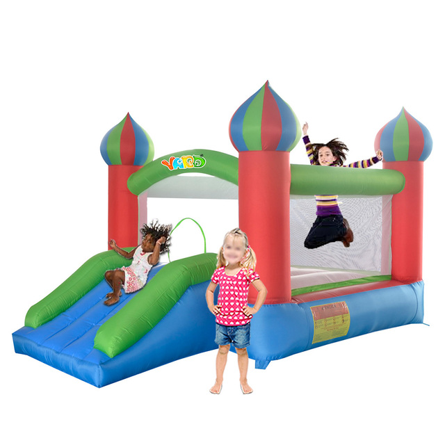 YARD Free Shipping In Stock Tiny Bouncy Castle Pretty Inflatables Slide Bouncer with Blower Kids Playground