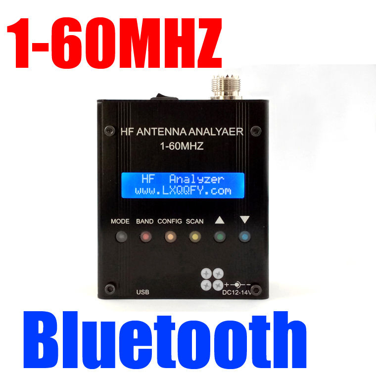 MR300 Bluetooth Digital Shortwave Antenna Analyzer Meter Tester 1 60M Ham Radio
