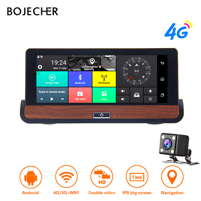 BOJECHER E31 Pro Car DVR Camera 4G ADAS WIFI Android 5 1 GPS Navigation 1080P Auto