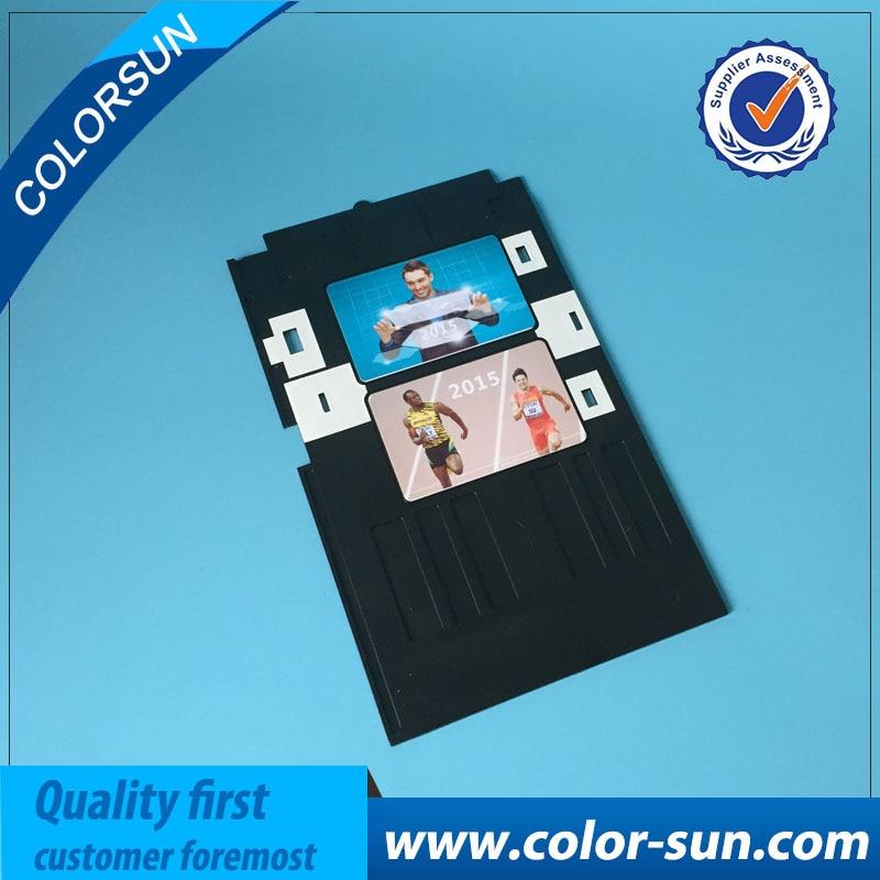 Office Electronics 100 Pcs Glossy Pvc Card And 1 Pcs Card Tray For Epson R260 R265 R270 R280 R290 R380 R390 Rx680 T50 T60 A50 P50 L800 L801 R330