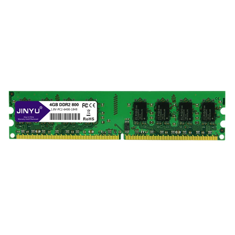 Mémoire Ram chaude Jinyu Ddr2 4G 1.8 V 240Pin pour bureau