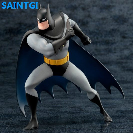 SAINTGI Justice League Batman Doll DC Super Heroes PVC 18CM Animated Action Figure Collection Model Kids Toys