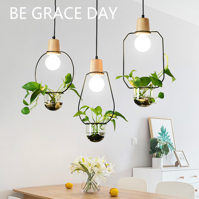 Nordic Modern Minimalist Bar, Coffee Shop, Plant Potted Balcony Lamps  Living Room Pendant  Kitchen Lamps  Industrial Lamp