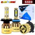 H7 LED H4 H1 H11 Car Headlight Bulbs S500 Golden Chrome Luxury Version H8 H9 H3 HB3 HB4 881 Auto Fog Light Bulb 6500k 72W 8000LM
