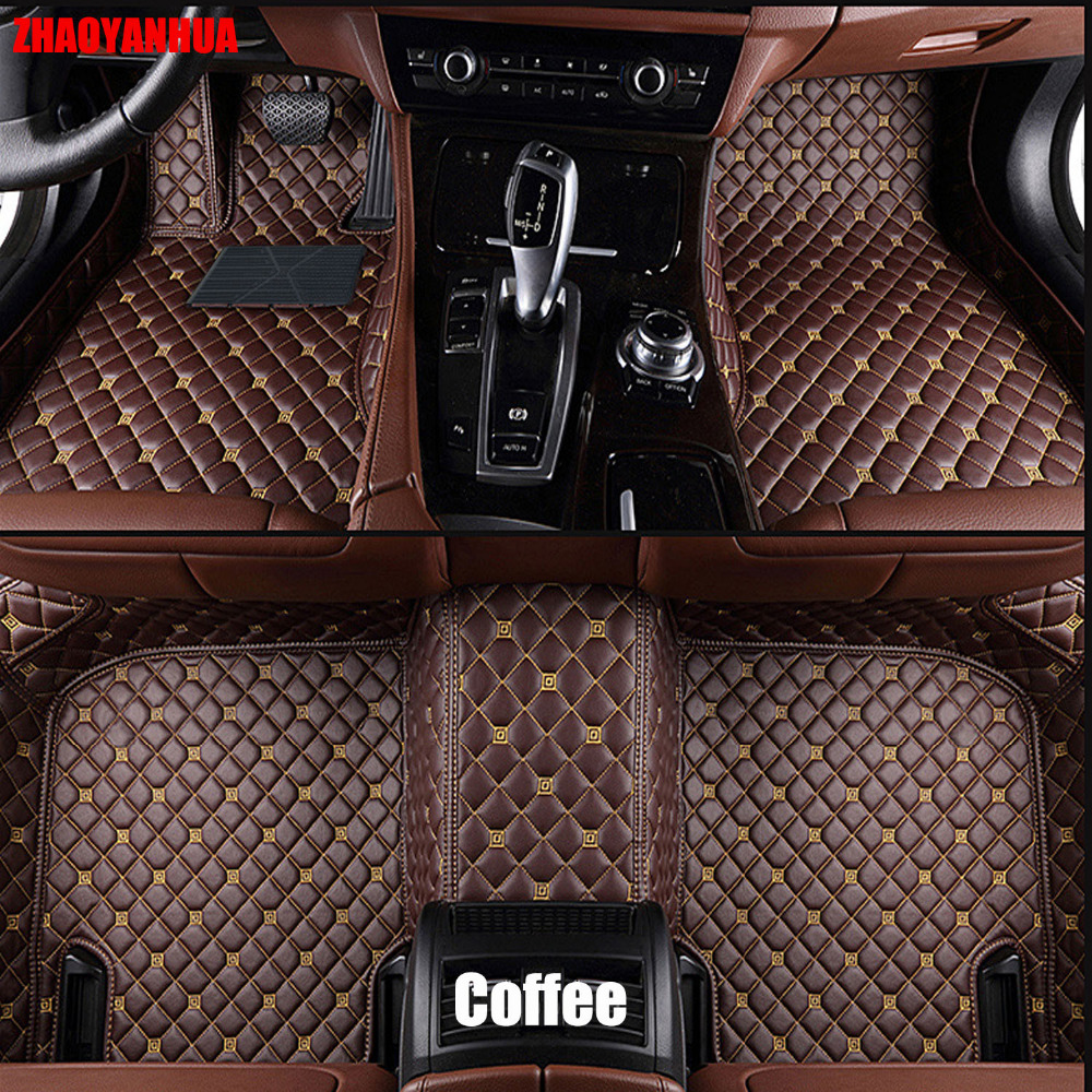 Zhaoyanhua car floor mats made for toyota highlander land cruiser 200 5d full cover car styling rugs carpet case liners 2007