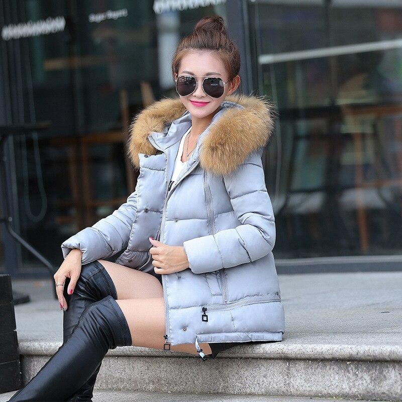 Femmes col en fourrure à capuche doudoune temps froid hiver chaud coton manteau décontracté chaud à capuche veste manteau de neige pardessus
