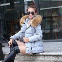 Kobiet Futerka Kołnierz Z Kapturem Kurtka puchowa zimno winter warm cotton coat fashion casual ciepła kurtka z kapturem śniegu płaszcz płaszcz