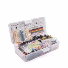 Electronics Component Basic Starter Kit with 830 tie-points Breadboard Cable Resistor, Capacitor, LED, Potentiometer