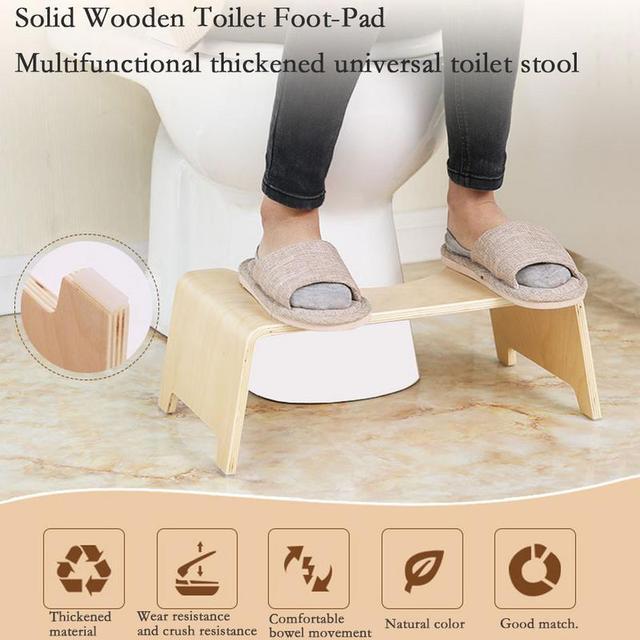48*26*15.5 cm Sedile del Water Poggiapiedi Per Uso Domestico Servizi Igienici Sg