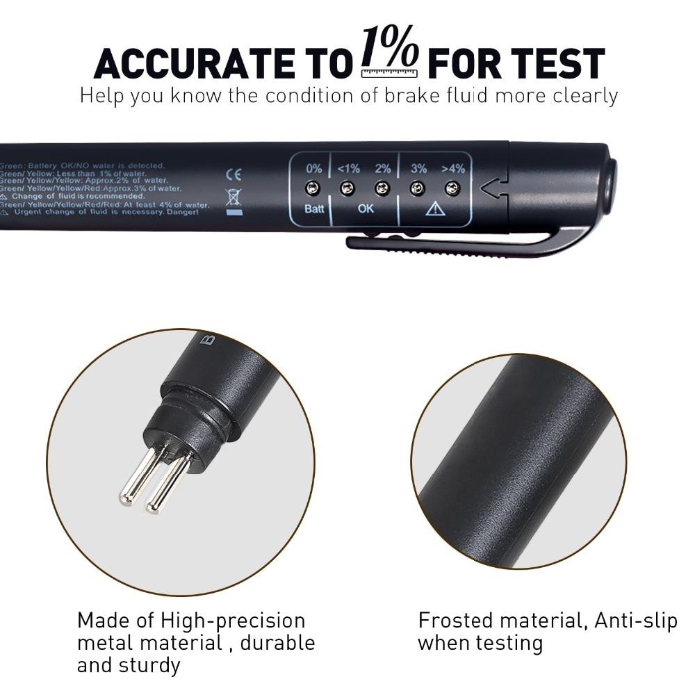 Brake Fluid Tester 5 LED Car Vehicle Auto Automotive Testing Tool For DOT3//4//5