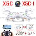 100% Original Syma X5C-1 (Versión de actualización Syma X5C) Drone Puede Añadir WIFI FPV HD 2MP Cámara RC Quadcopter Helicóptero de Juguete VS H31 H22
