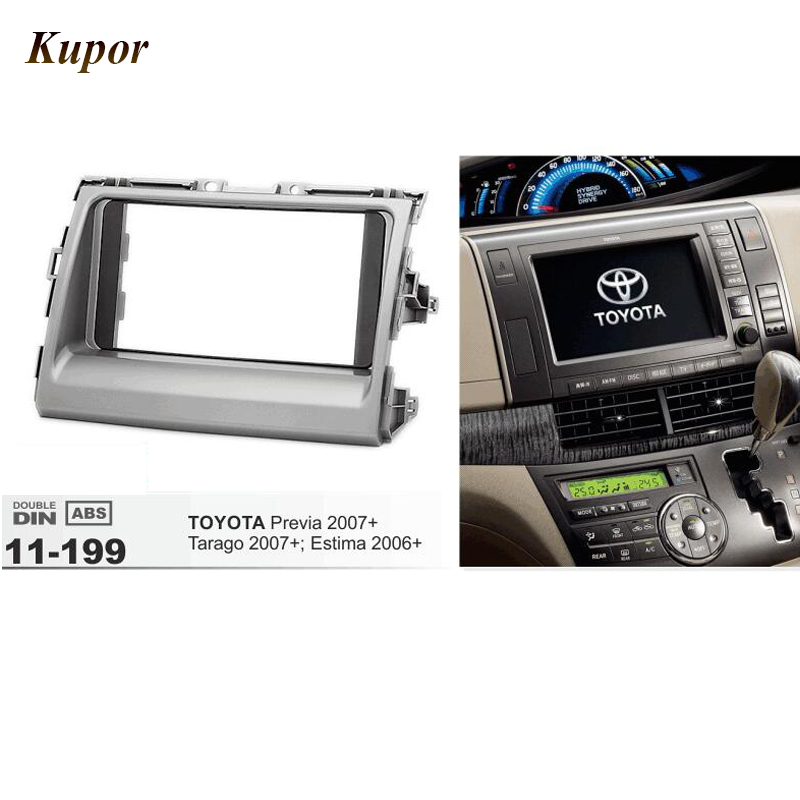 11-199 Car Radio Frame Fascia for TOYOTA Previa Tarago 2007+Estima 2006+ Stereo Dash Facia Trim Surround CD/DVD Installation Kit car radio dvd cd fascia panel for faw oley 2012 stereo dash facia trim surround cd installation kit