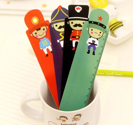 1pcs/lot NEW  Cartoon Soldier Doll Series Ruler Bookmark 15 CM Straight Ruler