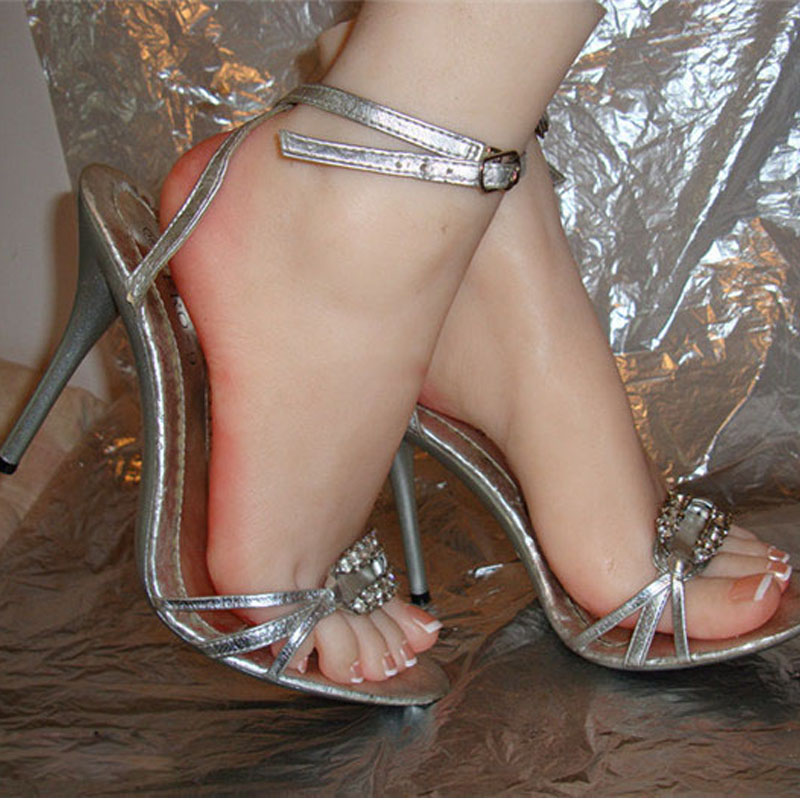 22 cm 38 # silikonowe fałszywe stopa, wewnętrzna kość wewnątrz, swobodny ruch palca, Model stopy, model buta F28 w Gumowe lalki od Uroda i zdrowie na  Grupa 1
