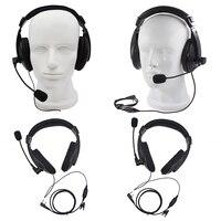 Baofeng-auriculares profesionales con cancelación de ruido y micrófono, cascos con cable para videojuegos de 2 pines