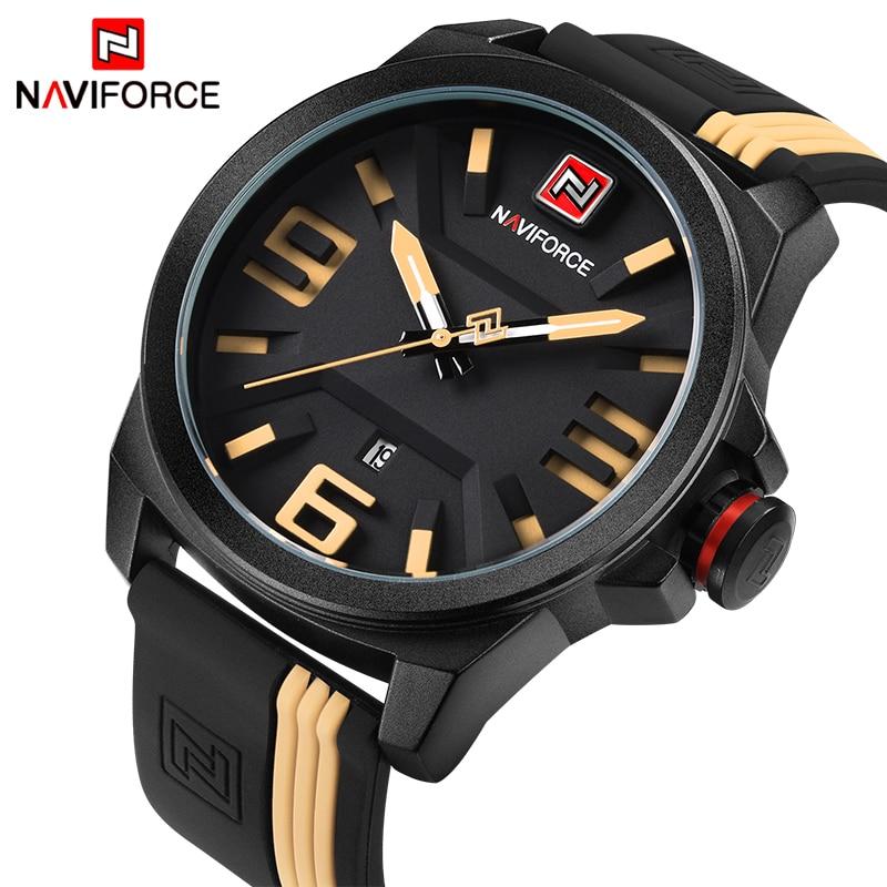 Prix pour 2017 NOUVEAU NAVIFORCE Marque Hommes Mode Casual Sport Montres Hommes de 3D Visage Quartz Date Horloge Homme Montre Étanche Relogio Masculino