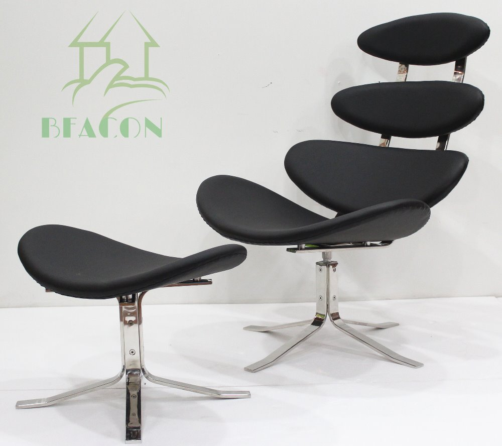 Replica corona chair and ottoman black color in living room chairs from furniture on aliexpress - Corona chair replica ...