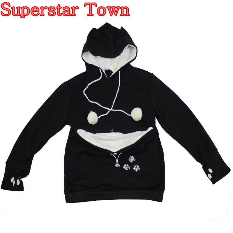 Cat lovers bluzy z cuddle etui dog pet bluzy dla kangura dorywczo swetry z uszy bluza 4xl drop shipping 9