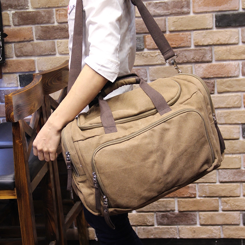 Vintage Canvas Men Travel Bags Weekend Carry on Luggage   Bags Leisure  Duffle Bag Large Capacity Tote Business Bolso-in Travel Bags from Luggage    Bags on ... 5e9afcb5959df
