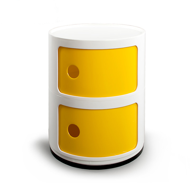 Modern Multi Function ABS Round Storage Cabinet Living Room Bedside Cabinet