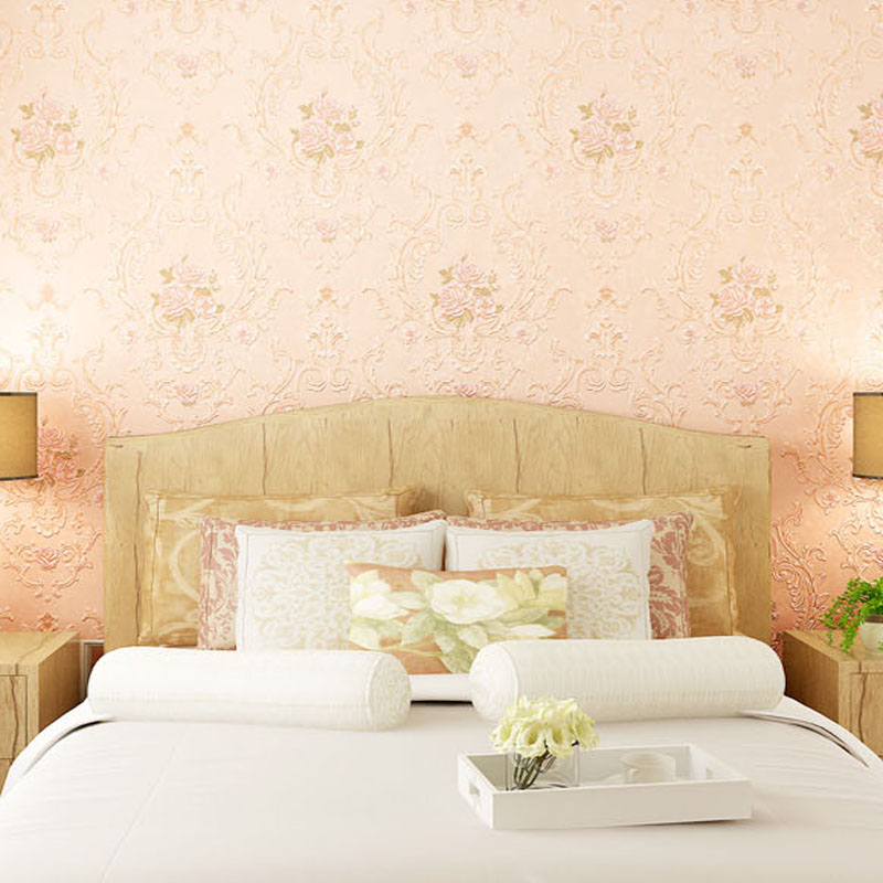 Pastoral Floral Romantic Rose Wallpaper 3D Flowers wedding Decoration Wallpapers Mural Wall Decals papel de parede LY023