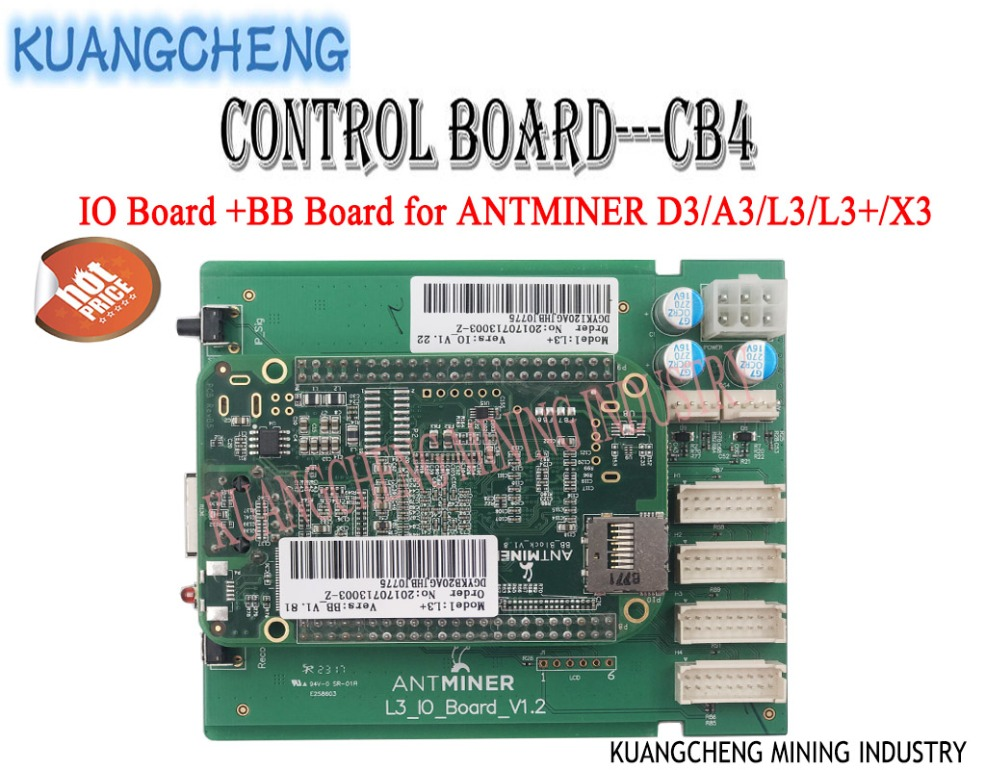 ANTMINER L3+ Control Board CB4 Include IO Board And BB Board Motherboard for ANTMINER D3/A3/L3/L3+/X3 MINERS from KUANGCHENG