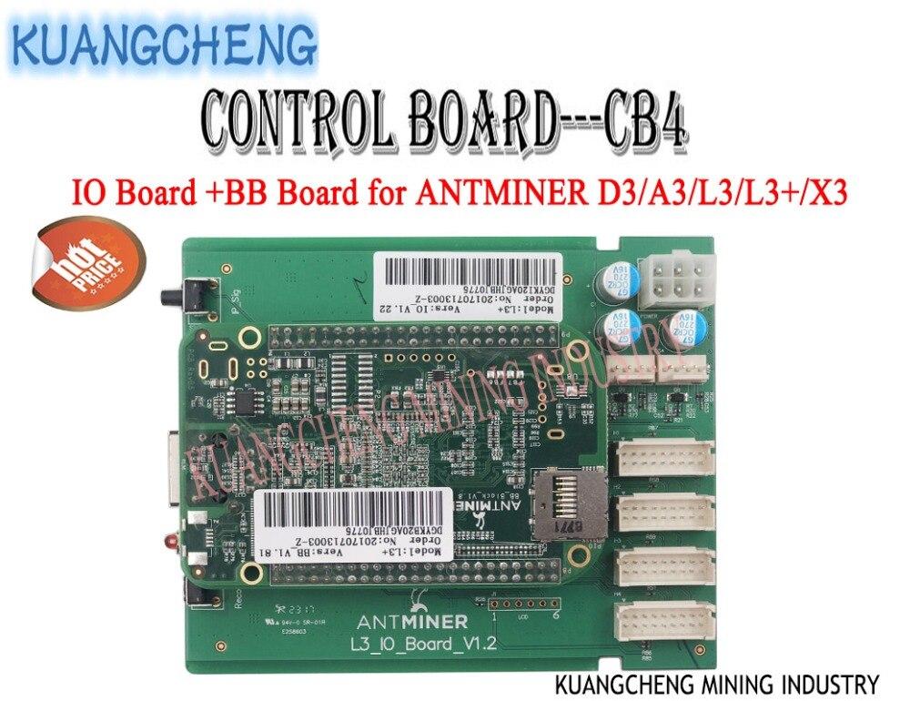 ANTMINER L3 + Control Board CB4 Umfassen IO Bord Und BB Bord Motherboard für ANTMINER D3/A3/L3 /L3 +/X3 BERGLEUTE aus KUANGCHENG