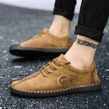 2019 New Comfortable Big size 38-48 Casual Shoes Loafers Men Shoes Quality Split Leather Shoes Men Flats Moccasins Shoes