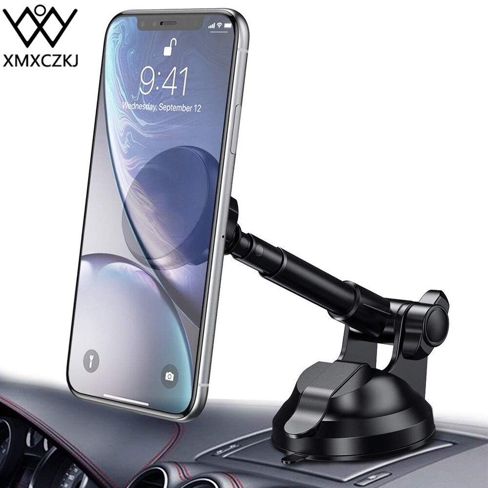 XMXCZKJ Universale 360 Rotazione Magnete Auto Parabrezza Supporto Del Supporto Del Telefono Del Telefono Mobile Del supporto per Il Iphone XS Braccio Flessibile del basamento del Telefono