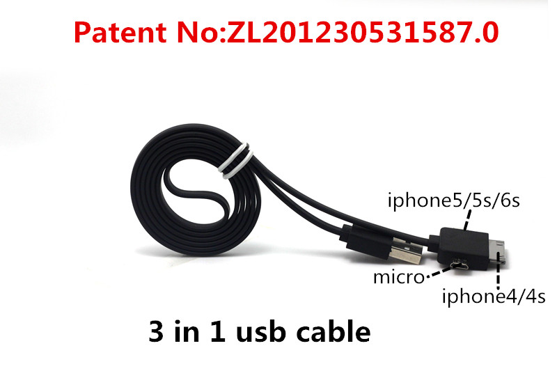 3 in 1 usb cable Charging and data sync Applicable to