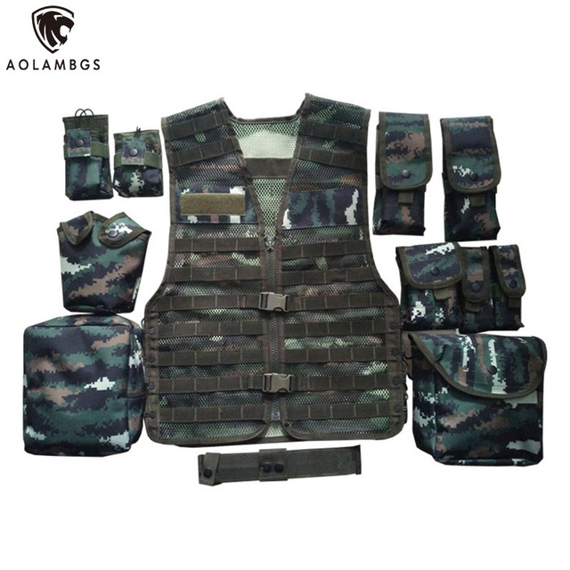 Tactical vest Tabby camouflage outdoor training combat vest protection for Military Airsoft Combat hunting removable vest
