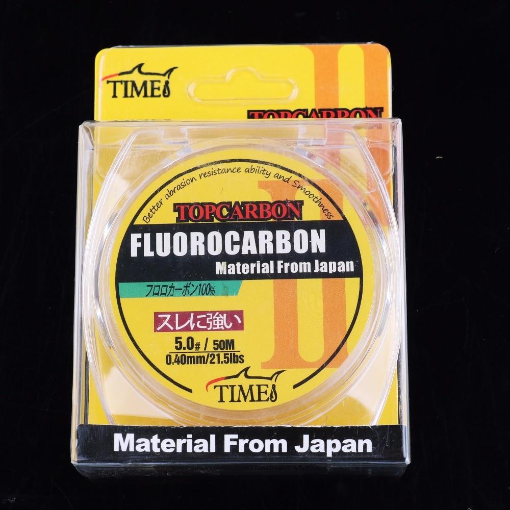 50m 4.4-35.2LB Fluorocarbon vislijnen Hoge kwaliteit koolstofvezel - Visvangst - Foto 6