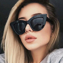 LongKeeper Vintage Sunglasses Women Cat eye Sunglass Retro Sun glasses Female Pink Mirror Eyewear