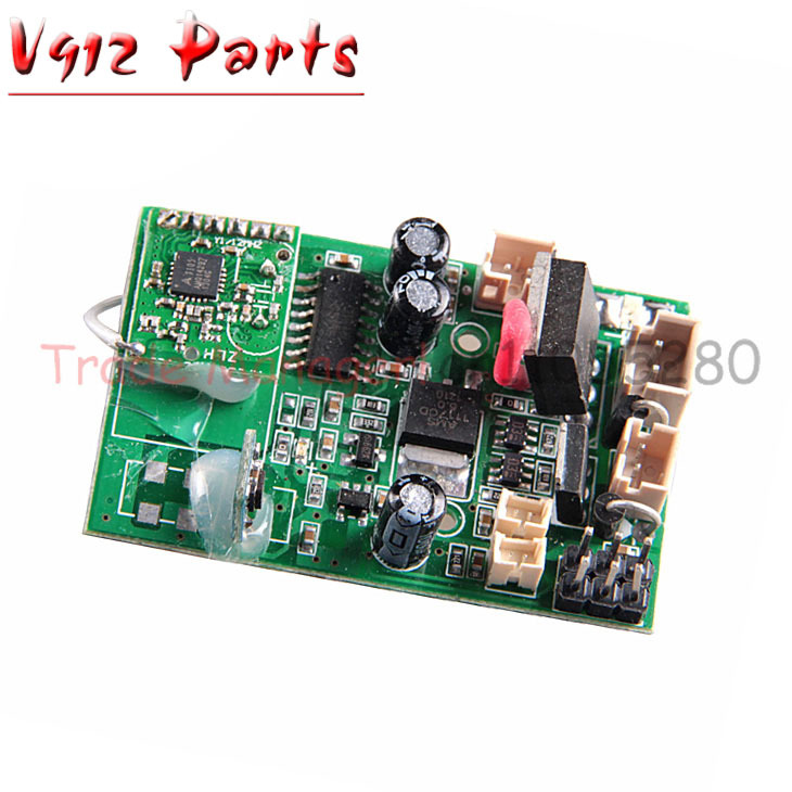 Free shipping v912 PCB box Receiver board Receiving plate for WL V912 RC helicopter spare part WLtoys Receive Card h22 007 receiver board spare part for h22 rc quadcopter