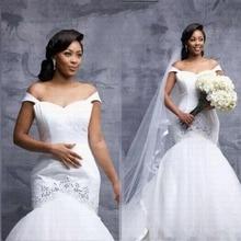BONJEAN 2019 Wedding Dress with V-neck Long Sleeves