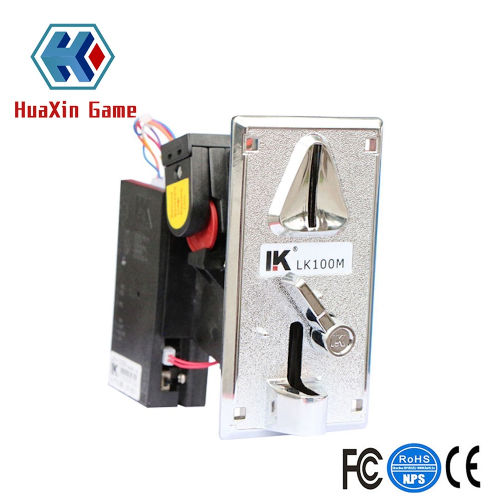 CPU Metal Coin Acceptor Roll Down Programmable Coin Size Arcade Game Redemption