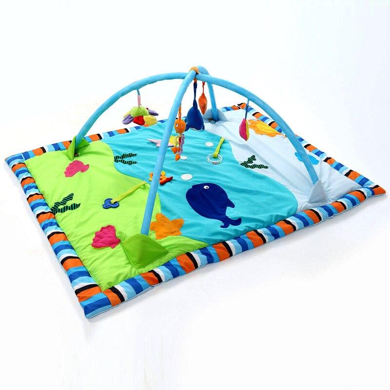 Bettr allonger kaki été paragraphe océan coton bébé jeu couverture jeu pad bébé fitness cadre jouet