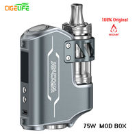 5PCS LOT 100 Original Witcher E Cigarette Kit ROFVAPE 75W E Cigarette TC BOX MOD Vape