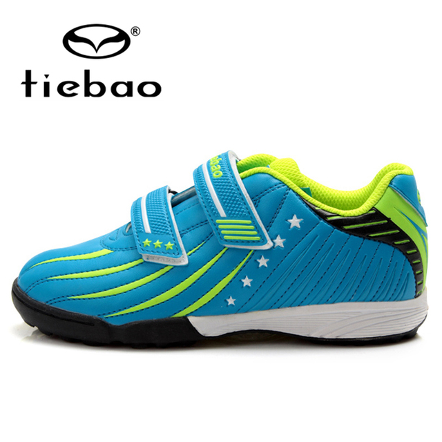 TIEBAO Outdoor Soccer Shoes Teenagers Breathable Training Football Cleats Children Kids Turf TF Rubber Sole Football Boots