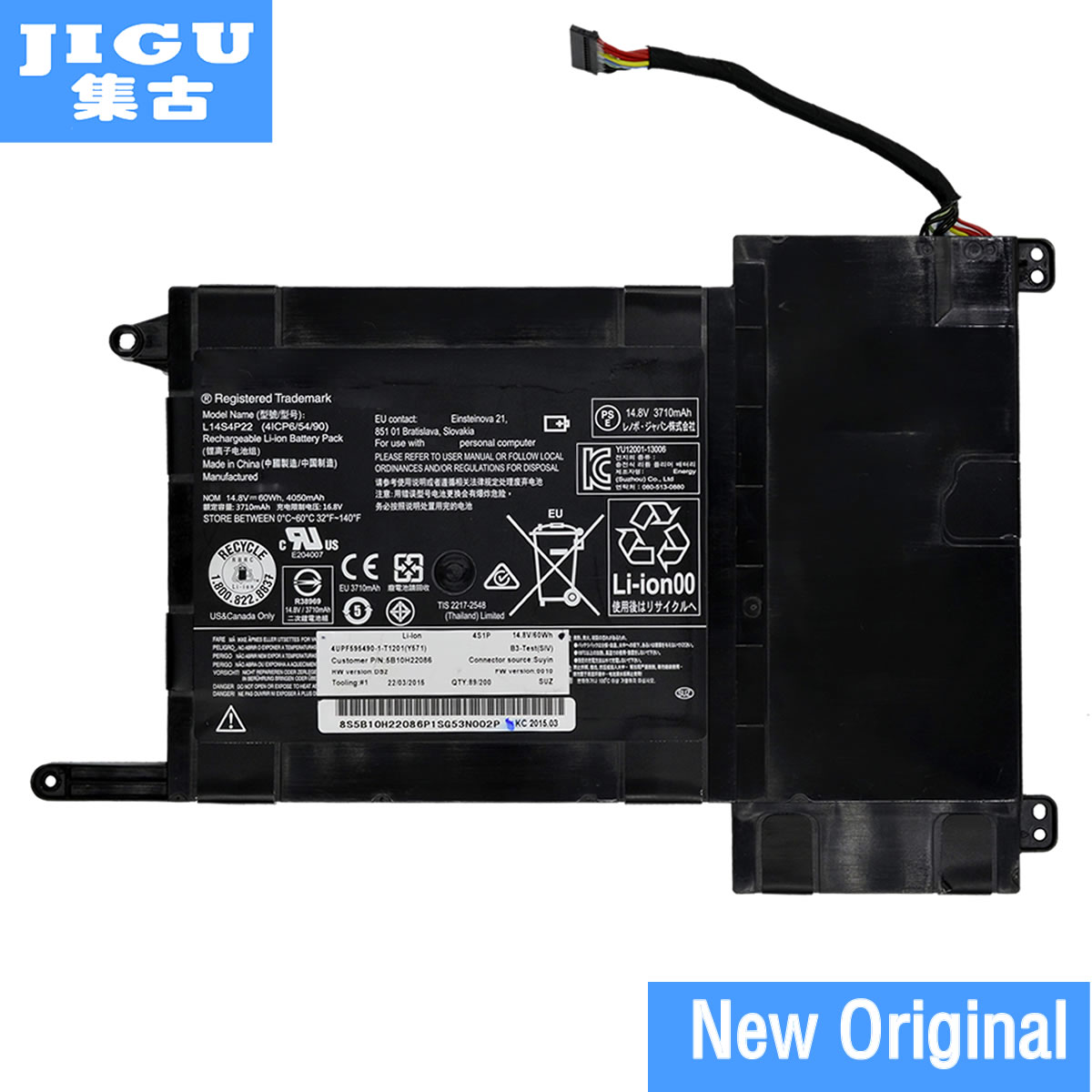 JIGU batterie d'ordinateur portable L14M4P23 pour LENOVO pour IdeaPad Y700 Y700 Touch-15ISK pour hasee GX9-SP7 PLUS