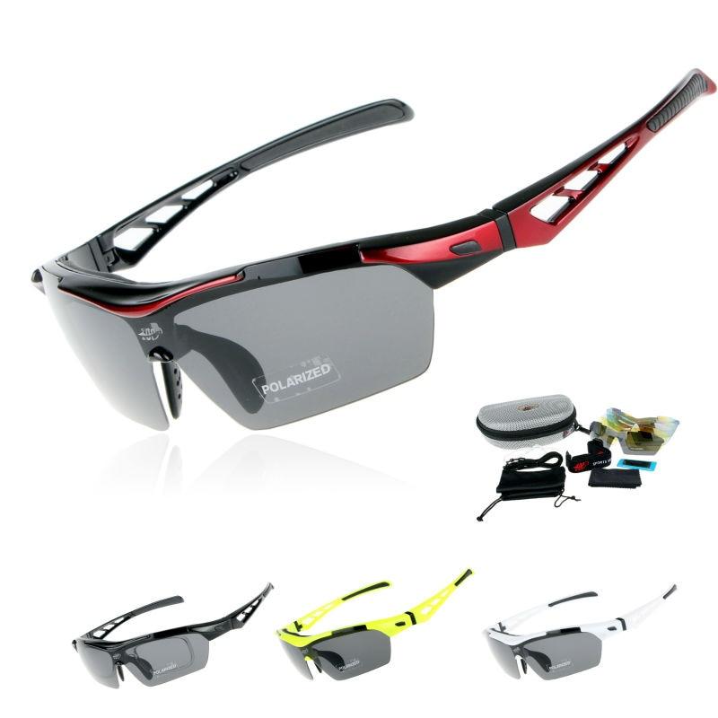 COMAXSUN Professional Polarized Cycling Glasses Bike Goggles Outdoor Sports Sunglasses Driving Fishing Eyewear UV 400 5 Lens